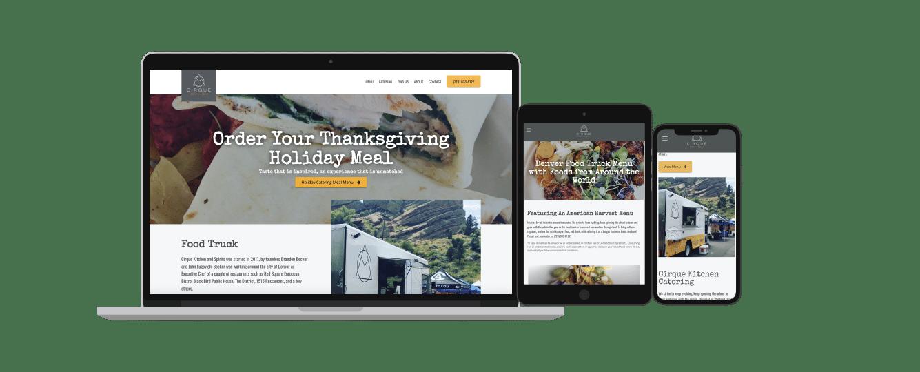 Website Design Seo For Restaurants Catering Rounded Digital